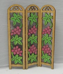 QS715 Grape Vine 3-panel Screen