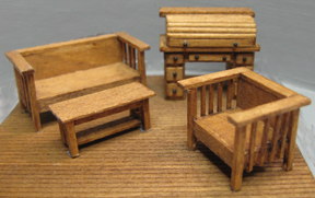 1 4 scale furniture karen cary 39 s miniatures quarter for Scale model furniture