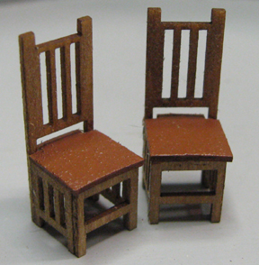 Qs334 Mission Style Dining Chairs Karen Cary 39 S Miniatures Quarter Scale Kits Wicker