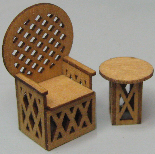 QS879 King Rattan Chair & Table