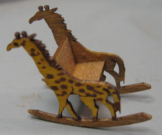 TH118 Rocking Chair with Giraffe Ends
